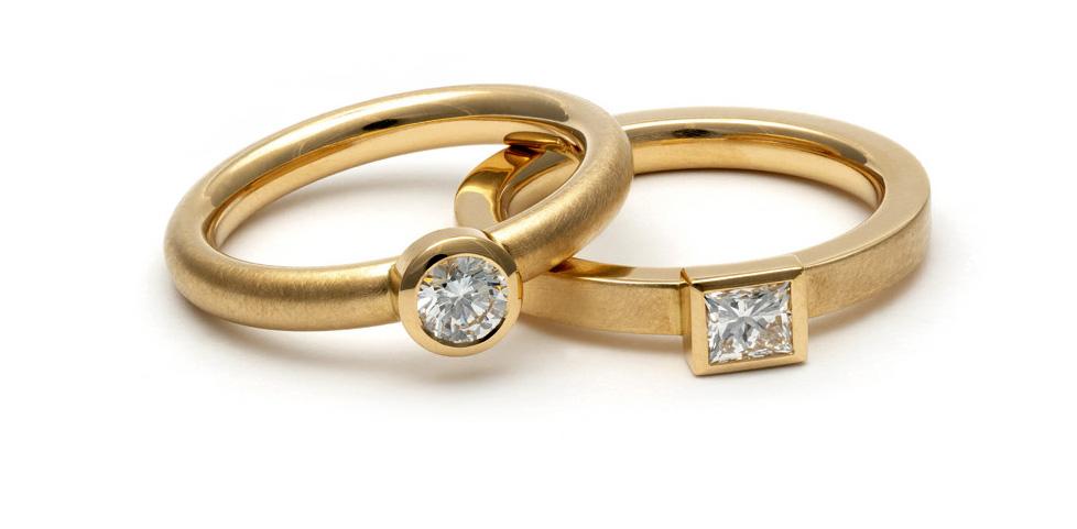 Brillant / Diamant, 750 Gelbgold