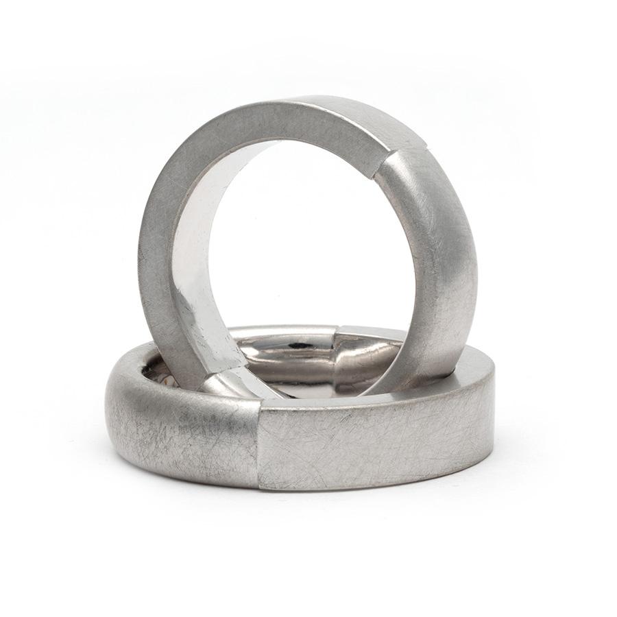 950 Silber, mattiert